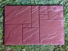 "Front tile"" a chipped stone"