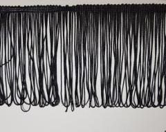 Бахрома на ленте 20 см ( тонкая ) - цвет черный
