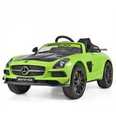 Детский электромобиль Mercedes SLS 812 зеленый