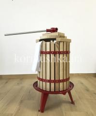 Пресс для винограда и фруктов 19 л дуб + фильтр