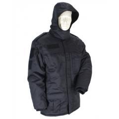 Куртка зимняя на флисе прямая Полиция черная