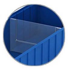 Поперечные разделители для полочных контейнеров 220х130мм