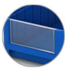 Фронтальные панели для полочных контейнеров 182х90мм