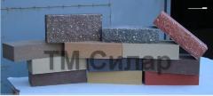 Facade facing brick from the Crimean shell