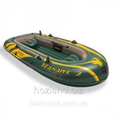 Трехместная надувная лодка Intex 68349 Seahawk 3