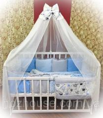 Детское постельное бельё Bonna Минки Голубое