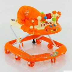 Детские ходунки музыкальные модель 528 (оранжевый)