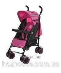 Детская прогулочная коляска-трость El Camino Sport M 3431 розовая