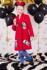 "Пальто для девочки ""New York"" красное"