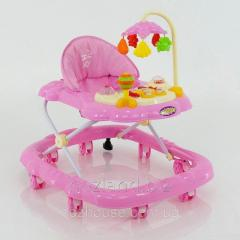 Детские ходунки музыкальные модель D28 (розовый)