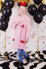 """Пальто для девочки """"Шанталь"""" розовое"""