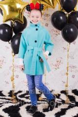 "Пальто для девочки ""Леди"" мята"