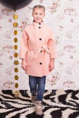 """Пальто для девочки """"Леди"""" персик"""
