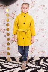 """Пальто для девочки """"Леди"""" горчица"""
