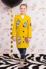 "Пальто для девочки ""New York"" горчица"