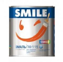 Эмаль Smile ПФ-115 красная 2,8 кг (51007)