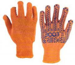 Перчатки 3003 трикотажные рабочие с ПВХ...