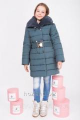 Зимняя куртка для девочки ZKD-2 изумруд