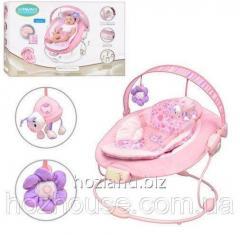 Кресло-шезлонг Bambi 60681 розовый