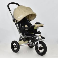 Велосипед-коляска Best Trike 698-4 с опускающейся спинкой (бежевый)