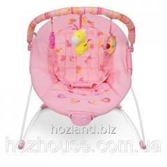 Детский шезлонг-качалка Bambi 6787 розовый