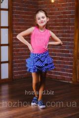 Джинсовая юбка-шорты D7 Звездочка