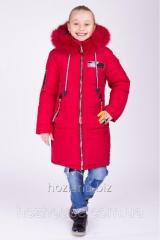 """Зимняя куртка для девочки """"Мода"""" красная"""