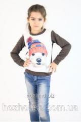 Детский свитшот для девочки Dog