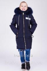 "Зимняя куртка для девочки ""Мода"" синяя"