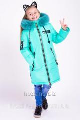 """Зимняя куртка для девочки """"Мода"""" мята"""