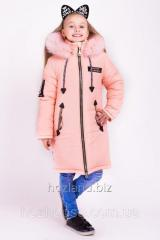 "Зимняя куртка для девочки ""Мода"" персик"