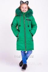 """Зимняя куртка для девочки """"Мода"""" зеленый"""
