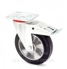 Swivel wheel with brake serie 17 STANDART