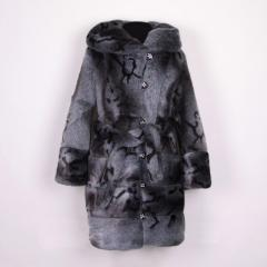 Fur coat female warmed white of a mink, the sizes: