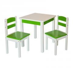 Детский столик со стульчиками Fenster Юниор Зеленый