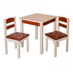 Детский столик со стульчиками Fenster Юниор Коричнево-молочный