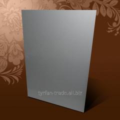 Анодированный алюминий листовой (под серебро матовое сатин)