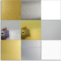 Анодированный алюминий цветной для сублимации (под золото,серебро) оболонь