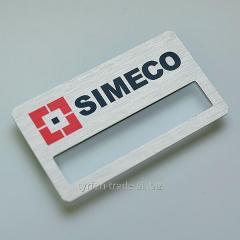 Бейдж металлический с карманом для вкладыша (под