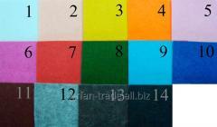 Войлок цветной жесткий толщ 3,0 мм, ширина 1000 мм