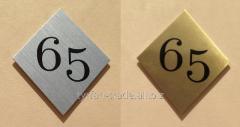 Гардеробные номерки, металлические номерки.