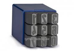 Инструмент для выбивки номеров на табличках,бирках,шильдах металлических (цифры *набор 0-9*)