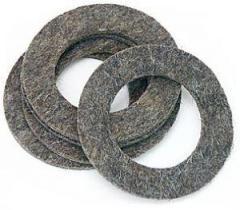 Кольца войлочные уплотнительные (вырезка по размерам заказчика)
