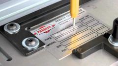 Маркировка шильдиков, шильдов, табличек и бирок