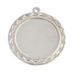 Медаль серебро 70мм