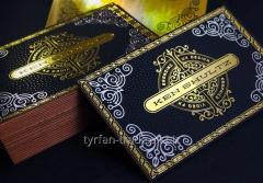 Металлические визитки, изготовление визиток за 1