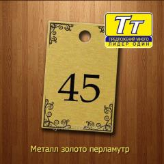 Номерки в гардеробную (изготовление за 1 час)
