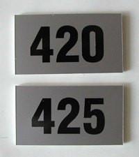 Номерки металлические на двери (под