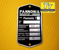Табличка (шильдик) на мотоцикл pannonia