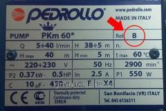 Табличка, шильд, шильдик, бирка насос Pedrollo